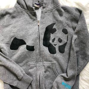 Enjoi Sweaters - Enjoi panda skateboard grey zip up hoodie